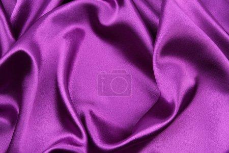 Purple silk fabric