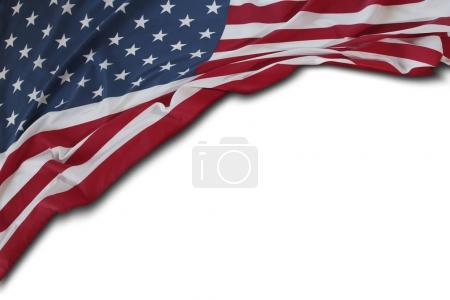 USA flag on white