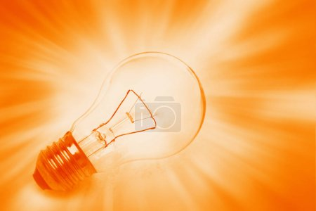 Photo for Light bulb on bright background - Royalty Free Image