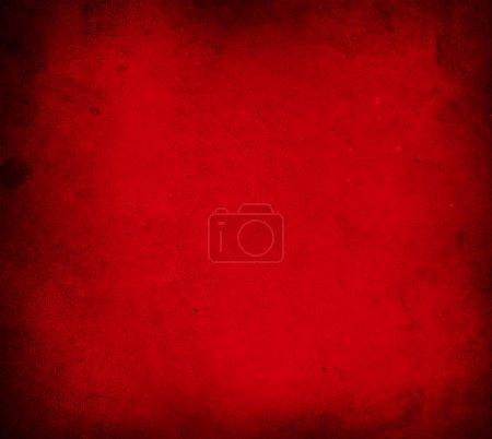 Photo pour Fond mural en béton texturé rouge. Bords sombres. Fond de Noël . - image libre de droit