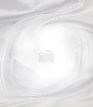 Photo pour Closeup of rippled white sok fabric lines. Table des matières - image libre de droit