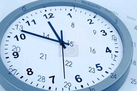 Photo for Clock face and calendar composite - Royalty Free Image