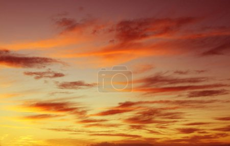 Photo for Sunlit clouds in summer sky - Royalty Free Image