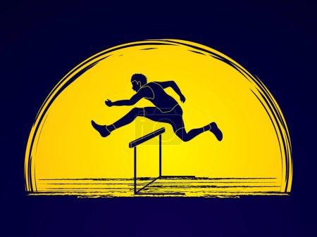Illustration for Hurdler hurdling graphic vector - Royalty Free Image