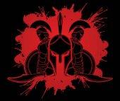 Spartan warrior pose graphic vector
