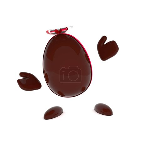 Chocolate Easter egg with a bow