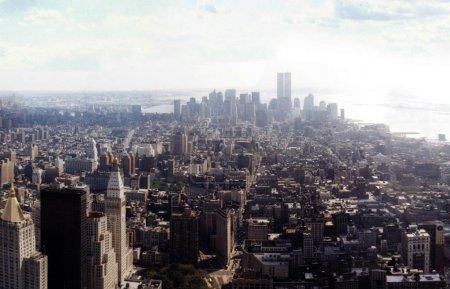 aerial view on Manhattan