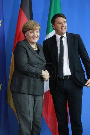 German Chancellor Angeal Merkel ans Italian Prime Minister Matteo Renzi