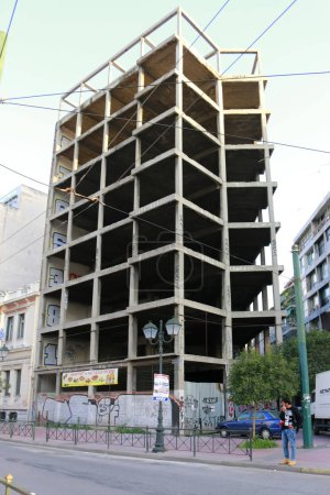 Building construction in Athens