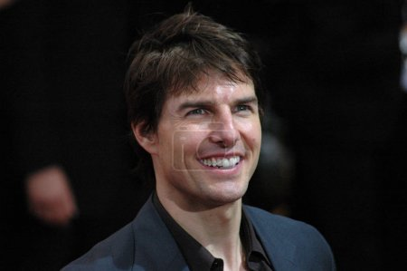 BERLIN, JUNE 14, 2005: Tom Cruise looks into the c...