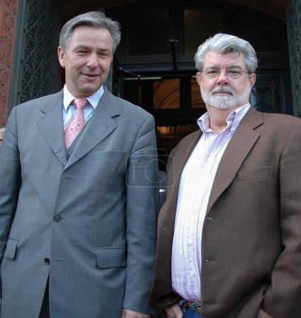 Mayor Klaus Wowereit with George Lucas