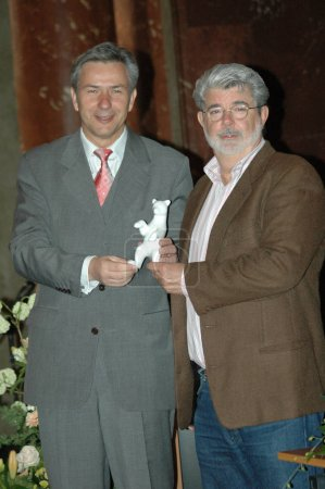 Klaus Wowereit with George Lucas