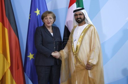 Chancellor Angela Merkel, Sheikh Mohammed