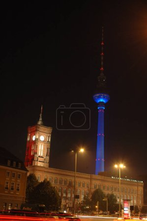 """Rotes Rathaus"" (City Hall) and the ""Fernsehturm"""