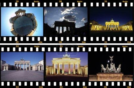 Photo pour JUIN 2016 - BERLIN : un cercle complet (petite planète) Panorama : Brandenburger Tor (Porte de Brandebourg), Pariser Platz, Berlin-Mitte . - image libre de droit