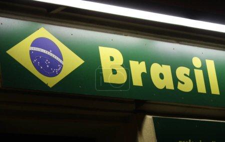 Photo pour Logo de la marque «Brasil», Berlin. - image libre de droit