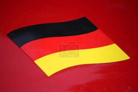 Photo pour Drapeau de l'Allemagne, Berlin. gros plan - image libre de droit