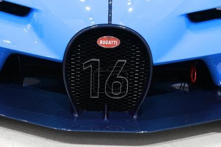 Bugatti logo on car