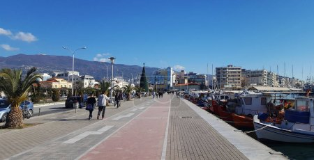 VOLOS, GREECE - DECEMBER 27 2017: The beautiful city of Volos, Greece