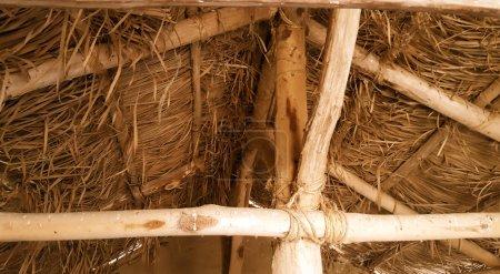 techo de paja o paja interior