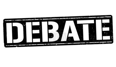 Debate sign or stamp