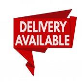 Delivery available origami speech bubble