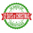 12 Days of Christmas grunge rubber stamp on white ...