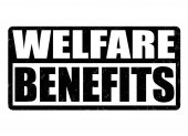 Welfare benefits sign or stamp