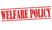 Welfare policy sign or stamp