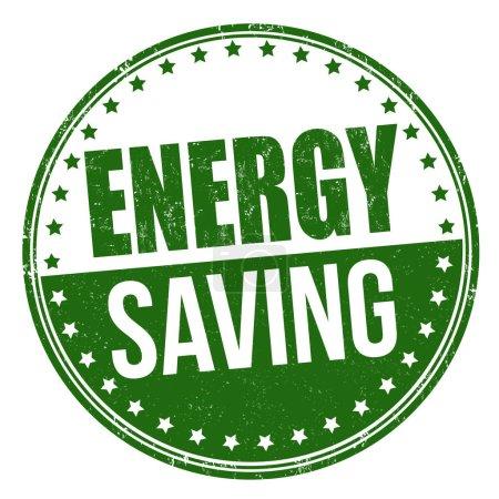 Energy saving sign or stamp