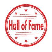 Hall of fame grunge rubber stamp on white vector illustration