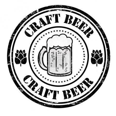 Craft Beer sign or stamp