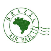 Brazil post office air mail stamp