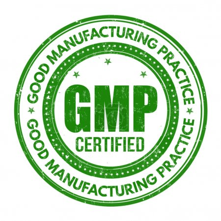 Illustration for Good Manufacturing Practice ( GMP ) grunge rubber stamp on white background, vector illustration - Royalty Free Image