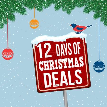 12 days of Christmas deals vintage rusty metal sig...