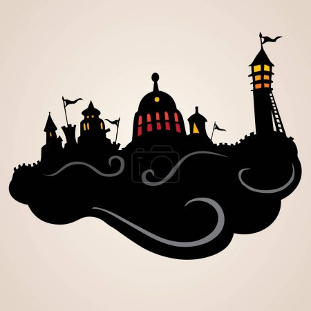 Design of silhouette castle