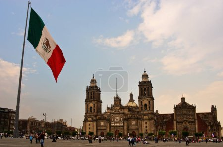 Big Mexican Flag on Zocalo