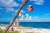 Tree with talismans on Caribbean coast.