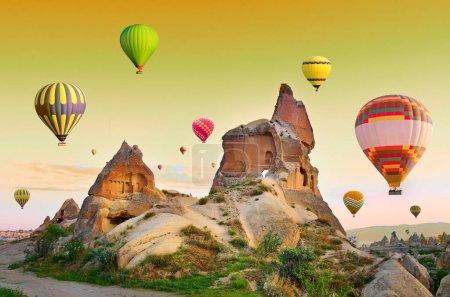 Hot air balloons in Cappadocia