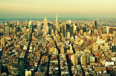 Photo pour Panorama de New York City Manhattan skyline. Vue de dessus - image libre de droit