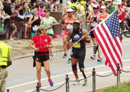 Photo for Boston, USA - April 17, 2017: Annual marathon in Boston April 17, 2017 - Royalty Free Image