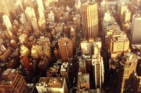 Photo pour Vue de dessus du panorama du panorama de la ville de New York. Vue de dessus - image libre de droit