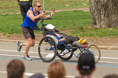 Participation of athletes with disabilities at annual marathon