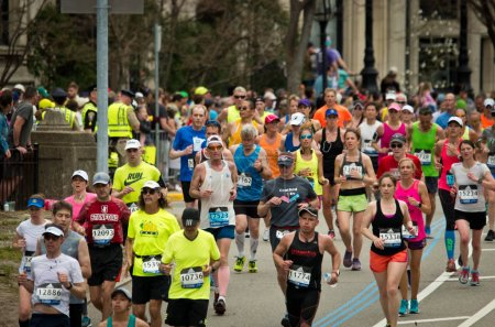 Annual marathon in Boston