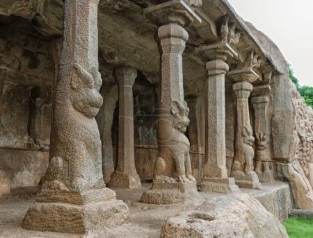 Ancient basreliefs  and statues
