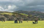 Cusco, Peru - March 8, 2015: Sacsayhuaman, Inca ruins in Cusco, Peru