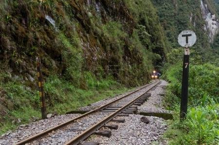 Train connecting Cusco and Machu Picchu in Peru