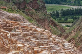 View of Salt ponds in Maras, Cuzco, Peru