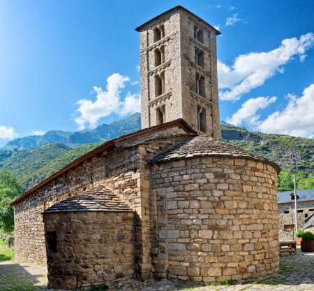 Roman Church of Santa Eulalia in Erill-la-Vall  in Catalonia, Spain. ( Boi Valley, a UNESCO World Heritage Site)