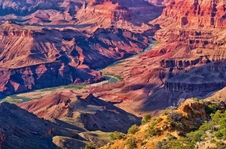 Landscape of Grand Canyon from Desert View Point with the Colorado River, USA